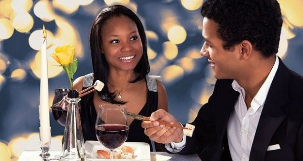 man on a date with lady