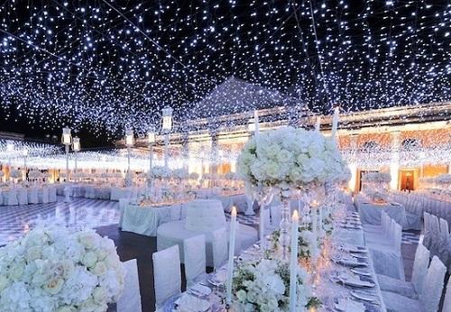 Classic evening wedding reception