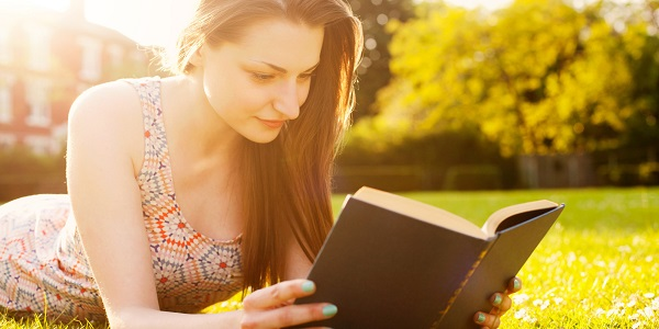 lady reading book